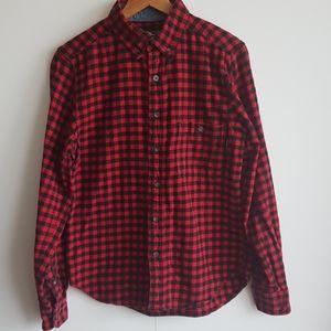 WOOLRICH Trout Run Flannel Buffalo Plaid Shirt MED